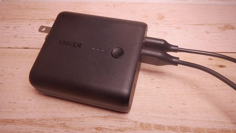 Anker PowerCore Fusion 5000 USBポートが二口ある