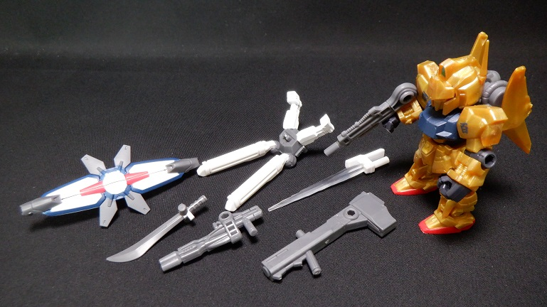 モビルスーツアンサンブル11 MS武器セットと百式