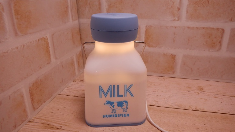 ミルク瓶型ミニ加湿器 正面