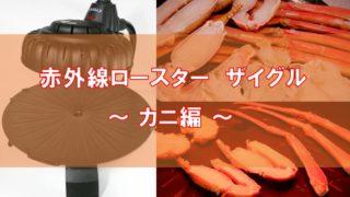 ザイグルでカニを焼く アイキャッチ