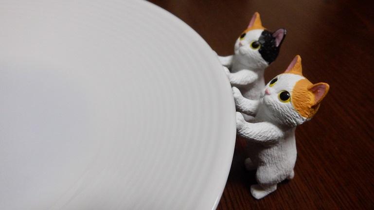 タッチ猫1 ミケ、ハチワレ