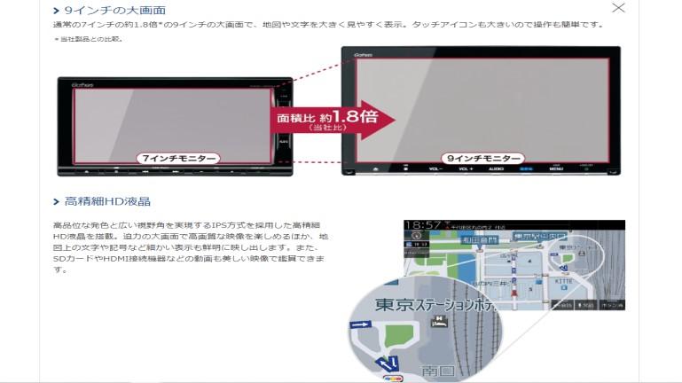 新型フリード 純正ナビ VXM-207VFNi 高精細HD