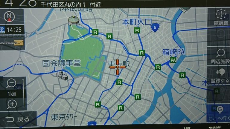新型フリード 純正ナビ VXM-207VFNi 地図