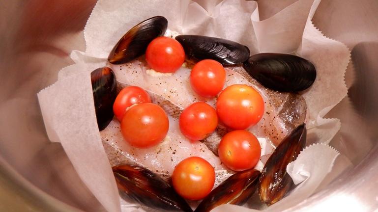 ホットクック タラのアクアパッツァ トマト