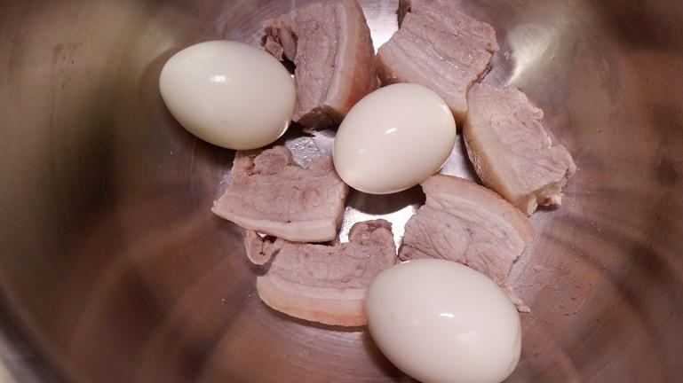 ホットクック 豚の角煮&たまご 具材投入2