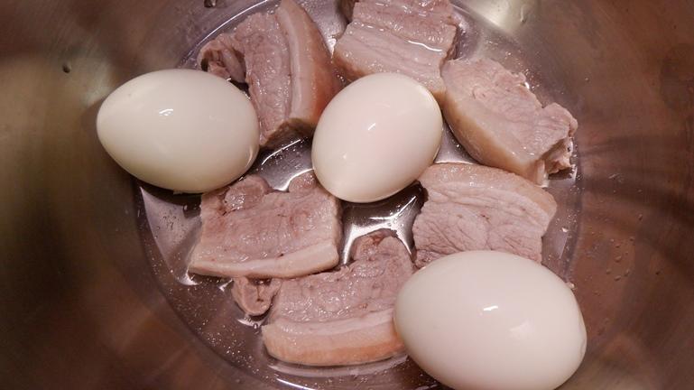 ホットクック 豚の角煮&たまご 具材投入3