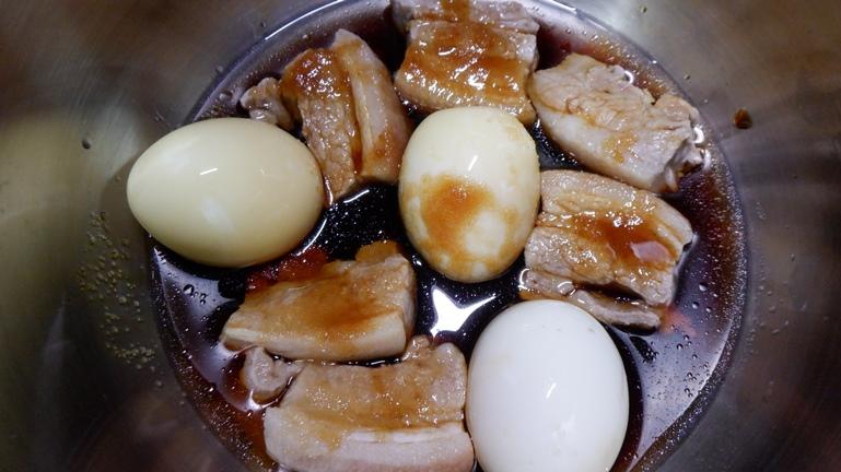 ホットクック 豚の角煮&たまご 具材投入5
