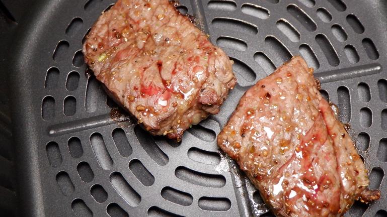 カラーラ ステーキ 200℃約5分後