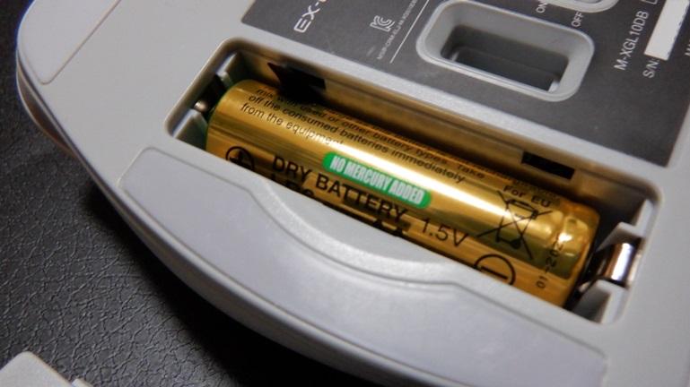 マウス エレコムM-XGL10DB 電池セット