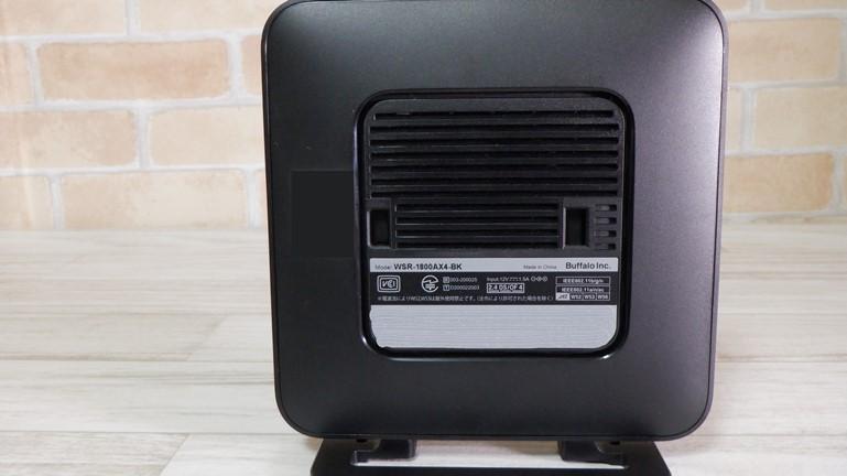 wifi6ルーター バッファローAX4 側面