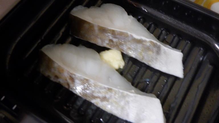 雑記日記 グリルパン魚1