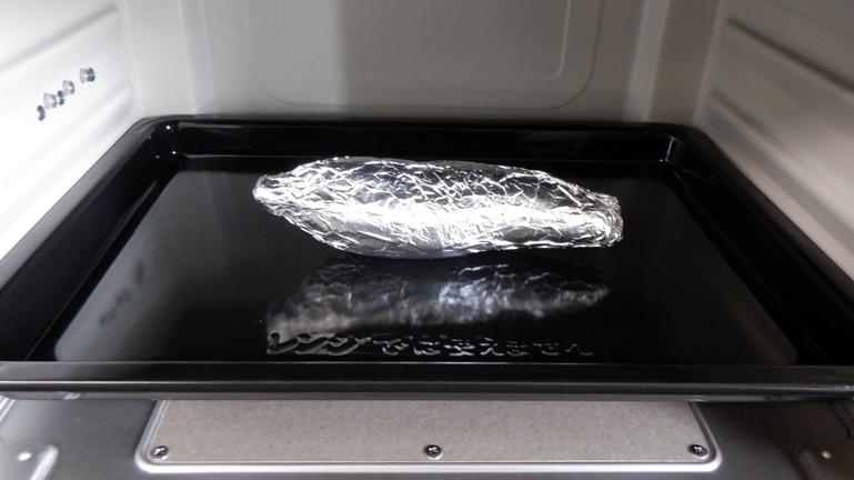 焼き芋 オーブンへ入れる