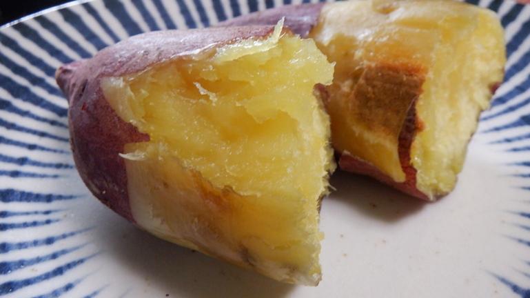 焼き芋 オーブン 皮をむく