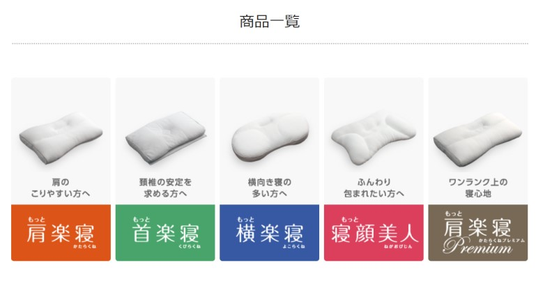 医師がすすめる健康枕 商品一覧