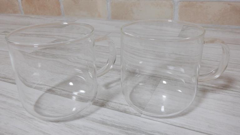 無印良品 耐熱ガラス マグカップ 2個