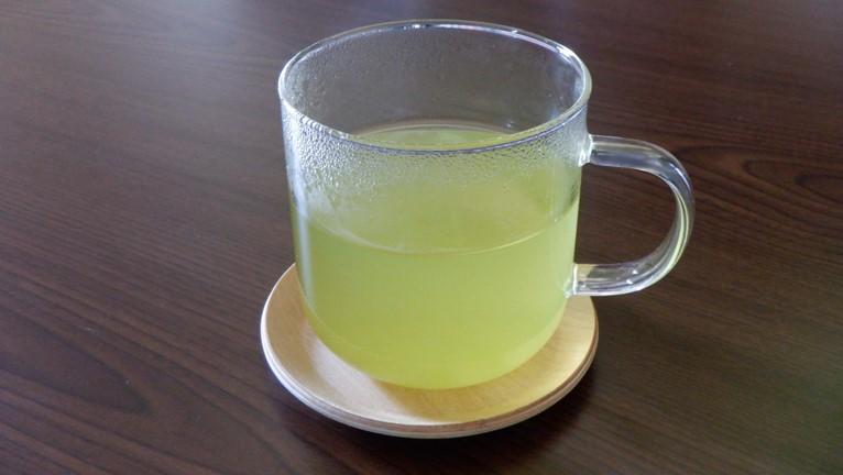 無印良品 耐熱ガラス マグカップ 緑茶