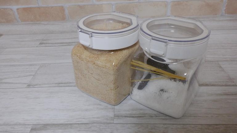 ニトリ ワンプッシュキャニスター 砂糖と塩