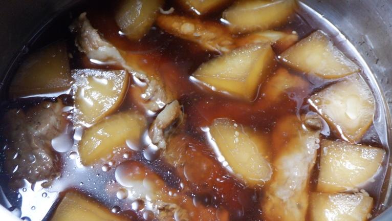 ホットクック スペアリブ煮込み 煮込み後
