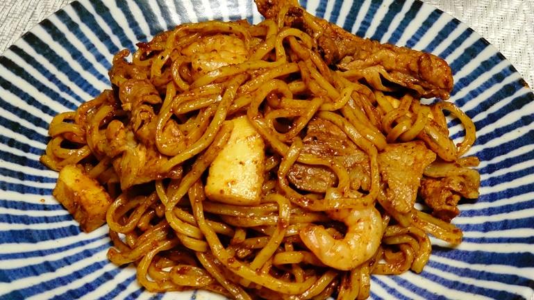 ホットクック日清太麺焼きそば 完成