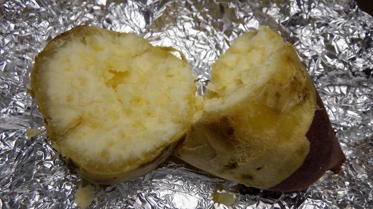 カラーラ 焼き芋 品種不明 焼き上がり