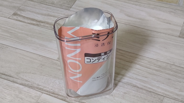 無印良品 フタが外せるPET詰替ボトル 袋上部切る
