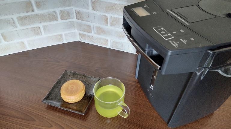 タイガー蒸気レス電気ポットPIM-G220 お茶と大判焼