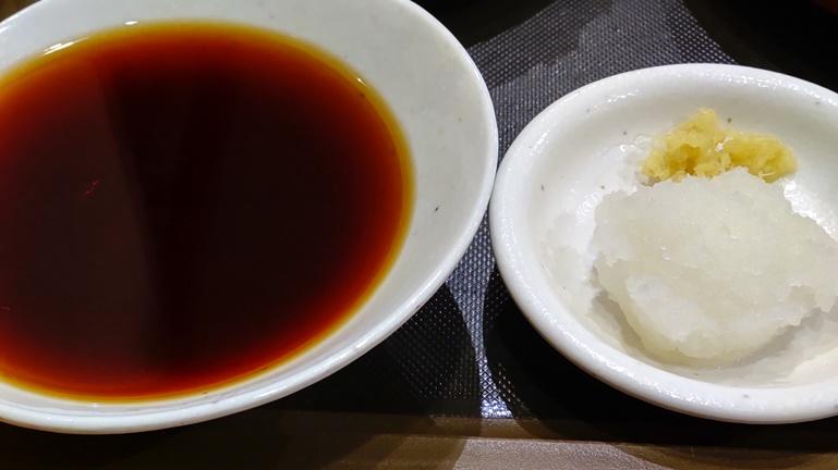 天丼てんや オールスター天ぷらそば 天つゆ 薬味