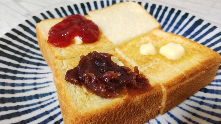 モスバーガー食パン食べ方 そのまま、バター、あんこ、ジャム