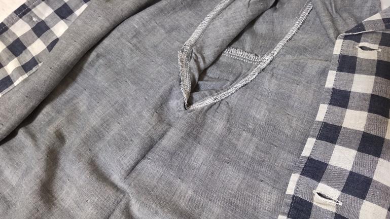 無印 パジャマ 縫い目