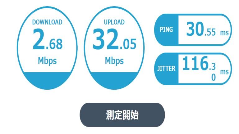 ELECOM CAT7LANケーブル 速度比較2