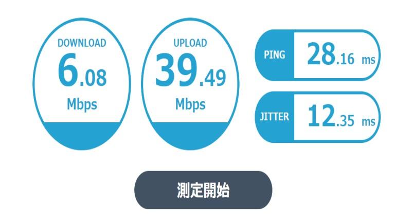 ELECOM CAT7LANケーブル 速度比較4